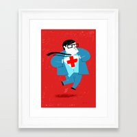 heroes Framed Art Prints featuring Heroes by Simone Massoni
