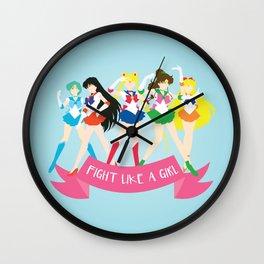 Fight Like a Girl: Sailor Senshi Wall Clock