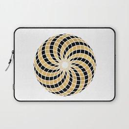 BLACK AND GOLD TORUS circular sacred geometry Laptop Sleeve