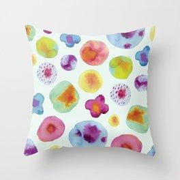 Flower Drops Throw Pillow