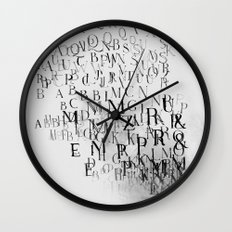 Typography and  the Black Hole Wall Clock