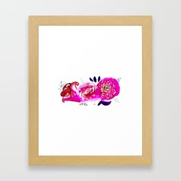 Three Purple Christchurch Roses Framed Art Print