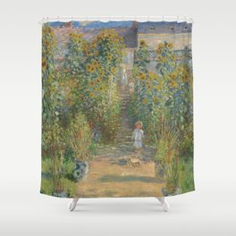 Claude Monet The Artist's Garden at Vétheuil 1880 Painting Shower Curtain
