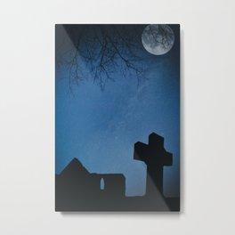 Churchyard by Moonlight Metal Print