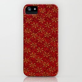 Glittered Christmas iPhone Case