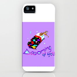 A Lavender Starry Sky, Dreaming of You iPhone Case