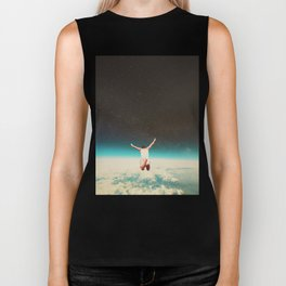 Falling with a hidden smile Biker Tank