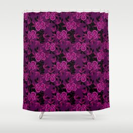 Floral pattern with flowers gzhel Shower Curtain