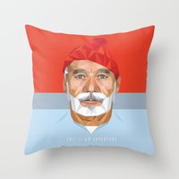 bill murray Throw Pillows featuring BILL MURRAY by Joemetric