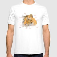 Tiger Colors MEDIUM White Mens Fitted Tee