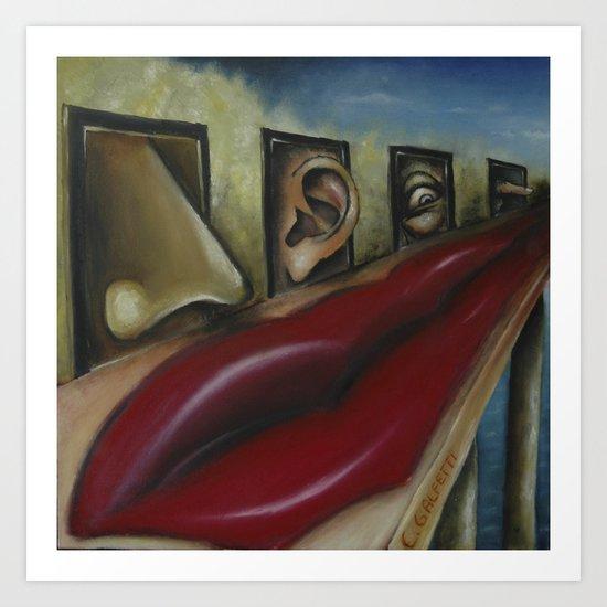Hanging senses Art Print