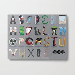 The Alphabat - Horizontal Rookie Metal Print