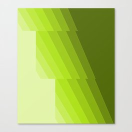 Gradient Green repetition Canvas Print