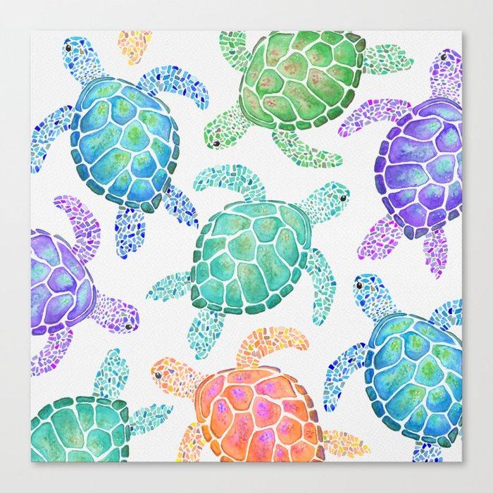 Sea Turtle - Colour Leinwanddruck