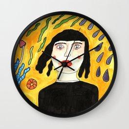 Abstract Girl Wall Clock