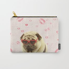 Pug face sunglasses,pugs and kisses Carry-All Pouch