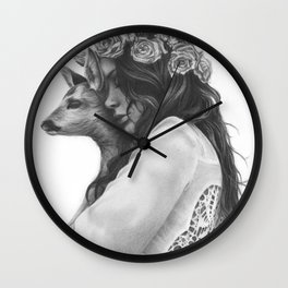 innocence with love Wall Clock