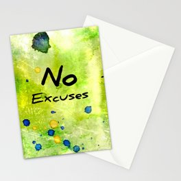 No Excuses Stationery Cards
