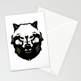 Face Wolf - Graphic Logo Stationery Cards