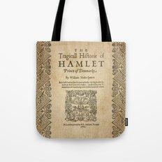 Shakespeare, Hamlet 1603 Tote Bag