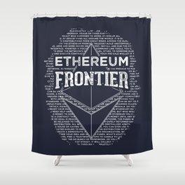 Ethereum Frontier Shower Curtain
