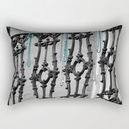 Old balcony in New Orleans, after Mardi Grass Rectangular Pillow