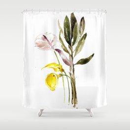 Leaflets Shower Curtain