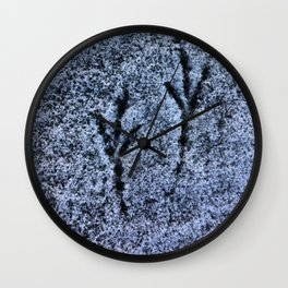 Snow Tracks Wall Clock