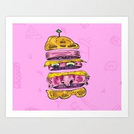 Human Hamburger Art Print
