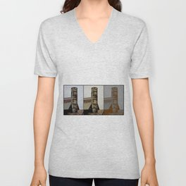 Tall and Strong - Industrial Art Unisex V-Neck