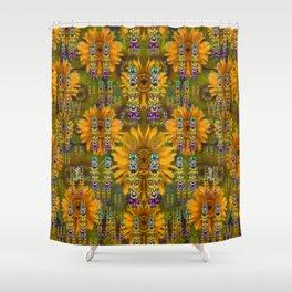 Magic Fantasy Sun Rose Fields Shower Curtain