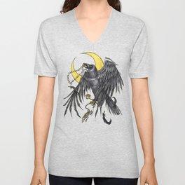 Raven Moon Unisex V-Neck