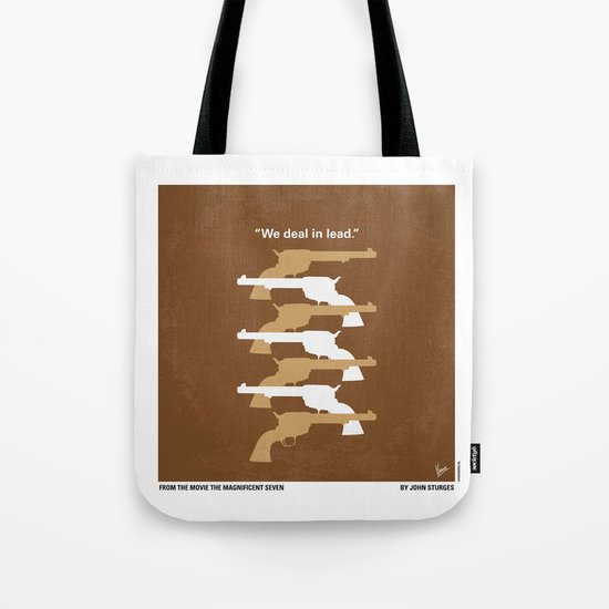 No197 My The Magnificent Seven minimal movie poster Tote Bag