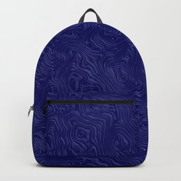 Royal Blue Silk Moire Pattern Backpack