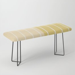 Two Tone Stripes - Yellow Bench