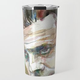 ALDOUS HUXLEY - watercolor portrait.2 Travel Mug