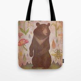 Asian Black Bear Tote Bag