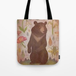 Asian Black Bear Tote Bag