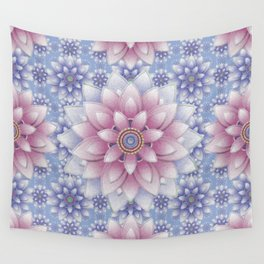 Embroidered Rose Quartz & Serenity Wall Tapestry