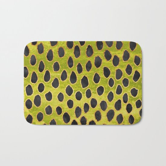 Pattern Play / Black, Gold & Green Bath Mat