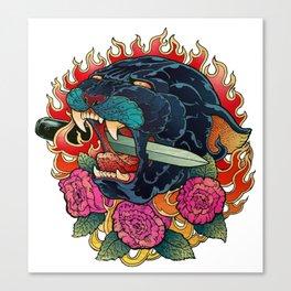 Burning Roses Canvas Print
