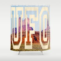 ufo Shower Curtains featuring UFO by some guy named christian