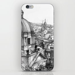 Prague over the rooftops iPhone Skin