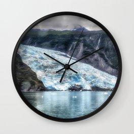 Portage Glacier - Alaska Wall Clock