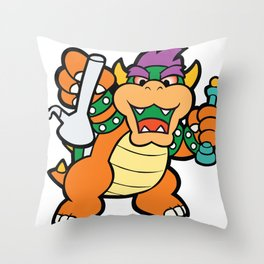 Dabbed Out Bowser Throw Pillow