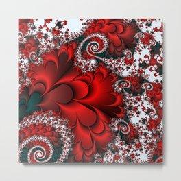 Red Sweetheart Fractal Metal Print