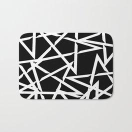 Interlocking White Star Polygon Shape Design Bath Mat
