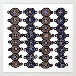 Circles up and down Art Print