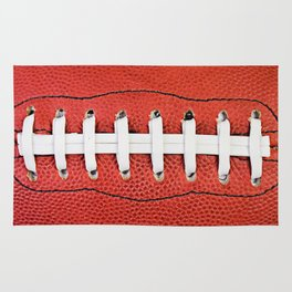 Close Up Football And Laces Rug