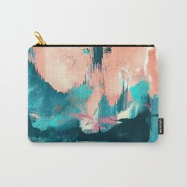 Sugar: a fun, minimal mixed-media abstract piece in pinks and blues Carry-All Pouch